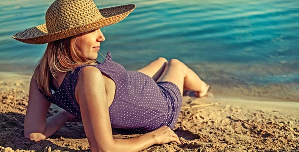 Hamileyken Denize Girmek