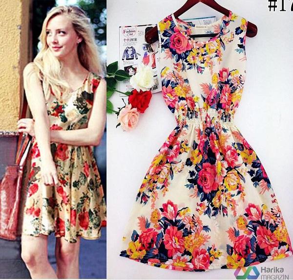 yazlık renkli elbise modelleri