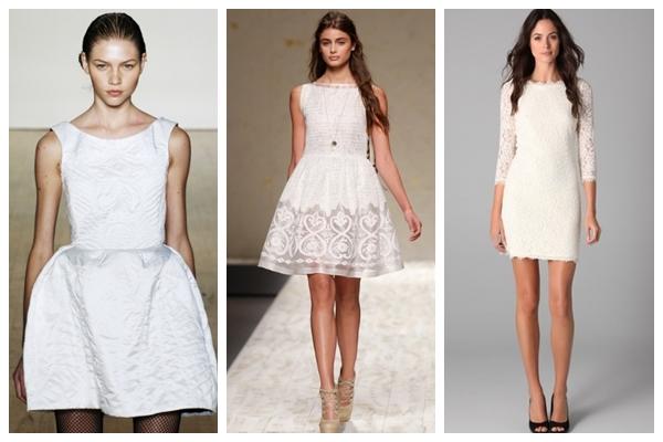 kısa beyaz elbiseler